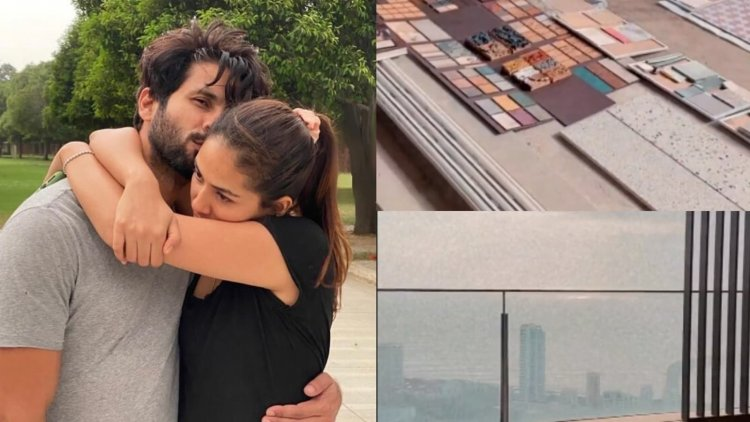 A Sneak Peek At Shahid Kapoor And Mira Rajput's New House, Currently Under Construction