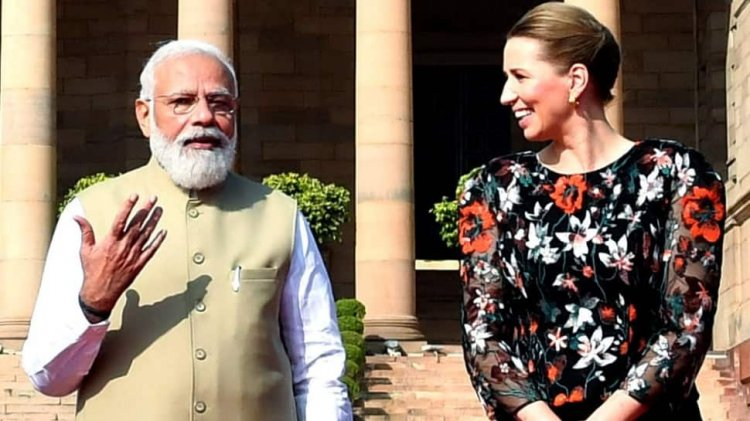 On Her First State Visit To India, Prime Minister Modi Meets With Her Danish Counterpart